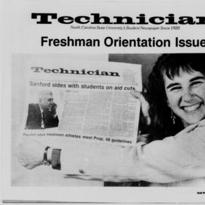 Technician, Freshman Orientation, 1987