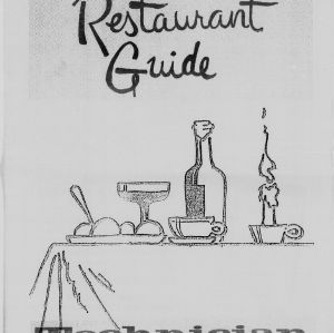Technician, Restaurant Guide, October 1, 1986
