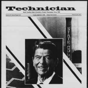 Technician, Special Reagan Issue, September 3, 1985