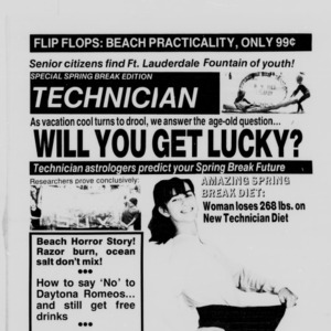 Technician, Spring Break Special, January 27, 1987