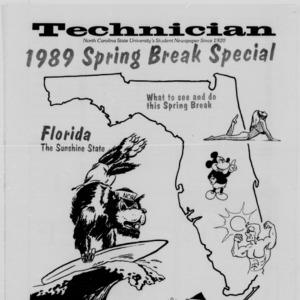 Technician, 1989 Spring Break Special, February 22, 1989