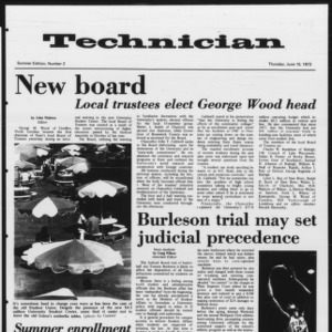 Technician, Summer 1972 No. 2, June 15, 1972
