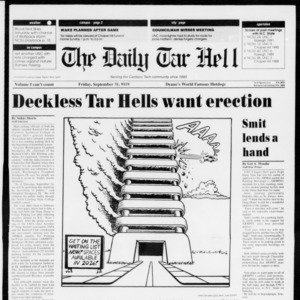 Technician: The Daily Tar Hell, September 25, 1992