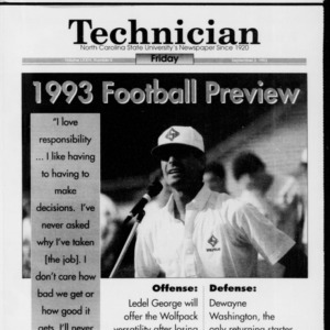 Technician Football Preview, Vol. 74 No. 5, September 3, 1993