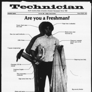Technician, Orientation Special, Summer 1981