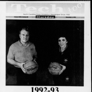 Technician Tech Too Basketball Special, Vol. 73 No. 50, December 3, 1992