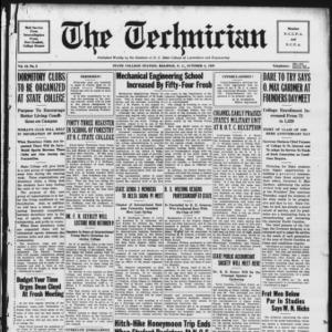Technician, Vol. 10 No. 3, October 5, 1929