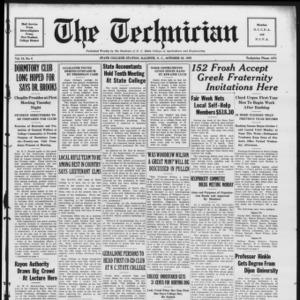 Technician, Vol. 10 No. 6, October 26, 1929