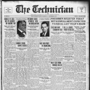 Technician, Vol. 13 No. 1, September 23, 1932
