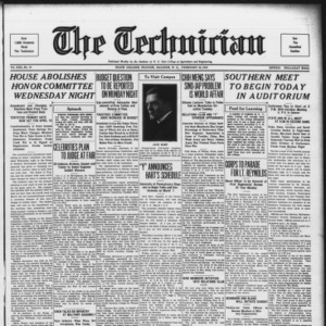 Technician, Vol. 13 No. 19, February 24, 1933