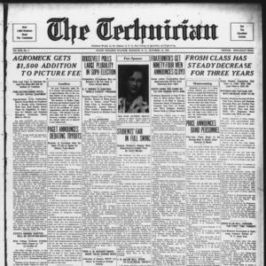 Technician, Vol. 13 No. 4, October 14, 1932