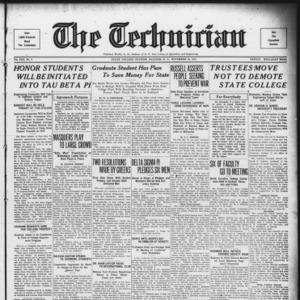 Technician, Vol. 13 No. 9, November 18, 1932