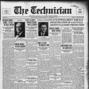 Technician, Vol. 14 No. 1, September 22, 1933