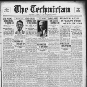 Technician, Vol. 14 No. 20, March 9, 1934