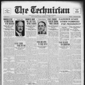 Technician, Vol. 14 No. 22, April 13, 1934