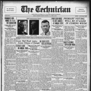 Technician, Vol. 15 No. 23, April 13, 1935