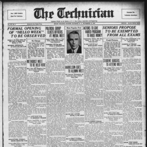 Technician, Vol. 15 No. 9, November 23, 1934