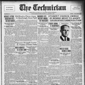 Technician, Vol. 16 No. 15, January 31, 1936