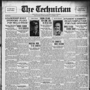 Technician, Vol. 16 No. 3, October 11, 1935