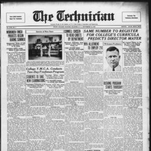 Technician, Vol. 17 No. 1, September 16, 1936