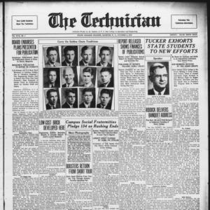 Technician, Vol. 17 No. 3, October 2, 1936