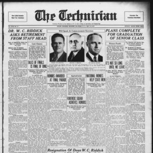 Technician, Vol. 17 No. 31, May 28, 1937