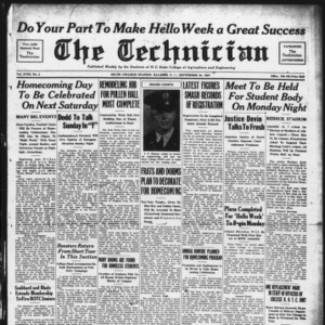 Technician, Vol. 18 No. 2, September 24, 1937