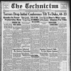 Technician, Vol. 18 No. 22, March 4, 1938