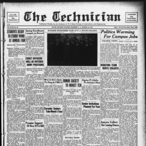 Technician, Vol. 18 No. 24, March 25, 1938