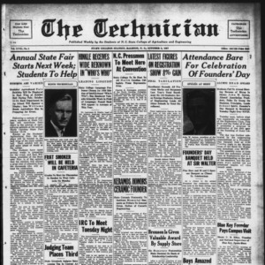 Technician, Vol. 18 No. 4, October 8, 1937