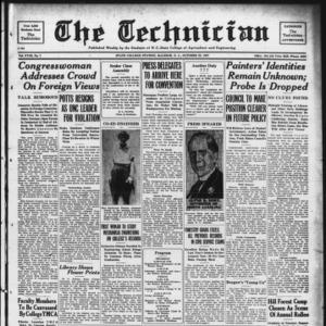 Technician, Vol. 18 No. 7, October 29, 1937