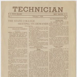 Technician, Vol. 1 No. 1, February 1, 1920