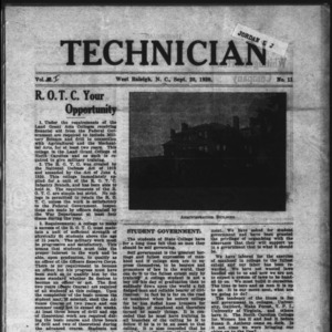 Technician, Vol. 1 No. 11, September 20, 1920