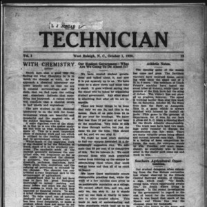 Technician, Vol. 1 No. 12, October 1, 1920