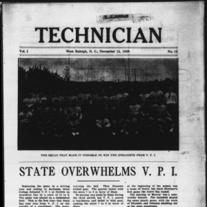 Technician, Vol. 1 No. 15, November 15, 1920