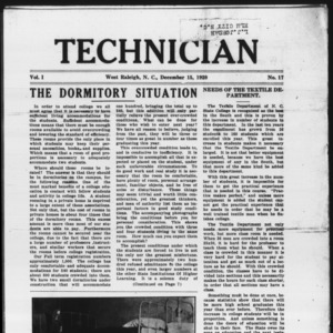 Technician, Vol. 1 No. 17, December 15, 1920