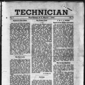 Technician, Vol. 1 No. 3, March 1, 1920