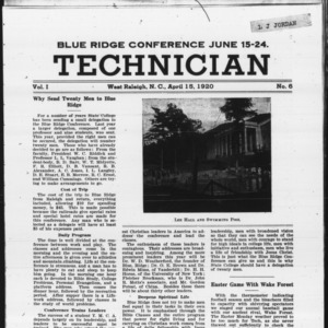 Technician, Vol. 1 No. 6, April 15, 1920