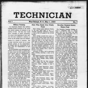 Technician, Vol. 1 No. 7, May 1, 1920