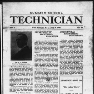 Technician, Vol. 1 No. 9, July 9, 1920