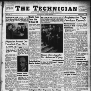 Technician, Vol. 20 No. 13, January 5, 1940