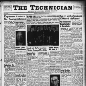 Technician, Vol. 20 No. 16, January 26, 1940
