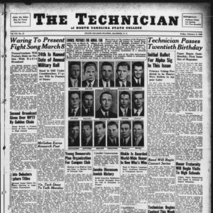 Technician, Vol. 20 No. 18, February 9, 1940