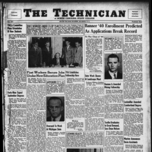 Technician, Vol. 21, Freshman Issue, September, 1940