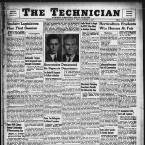 Technician, Vol. 21 No. 5, October 11, 1940