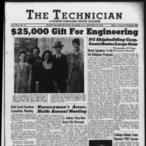 Technician, Vol. 25 No. 13, January 12, 1945