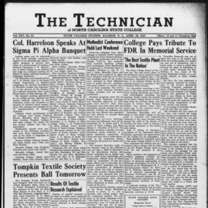 Technician, Vol. 25 No. 25, April 20, 1945