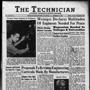 Technician, Vol. 25 No. 5, October 27, 1945