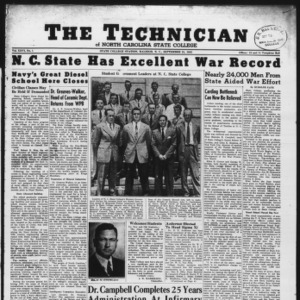 Technician, Vol. 26 No. 1, September 21, 1945