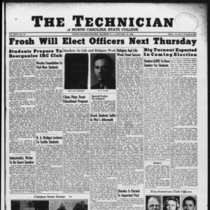 Technician, Vol. 26 No. 13, January 18, 1946